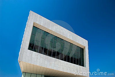 Exterior detail of new Liverpool museum, England,