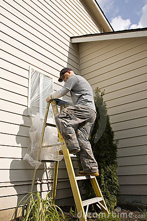 Exterior House Painters on To Window In Preparation For Residential Exterior House Painting