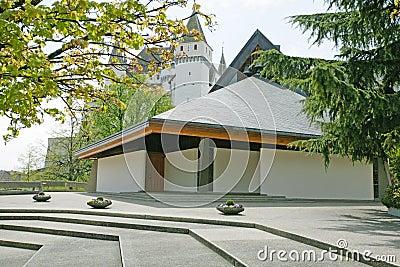Exterior of modern european church