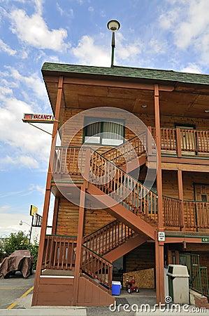 Exterior of motel