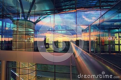 Exterior of new airport terminal