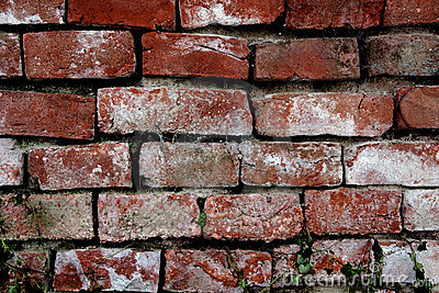 Exterior of old brick wall