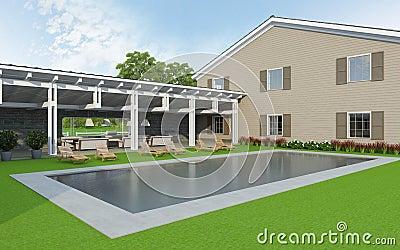 Exterior swiming pool