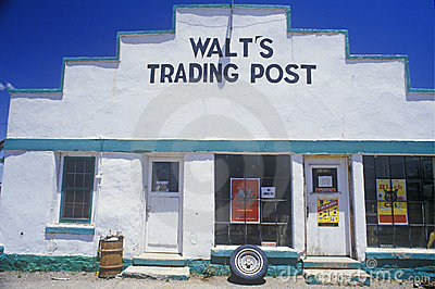 Exterior to Walt s Trading Post Editorial Image