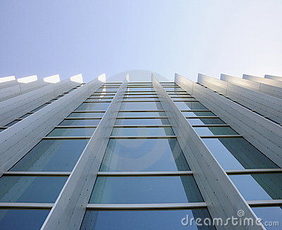 Exterior windows of building looking up