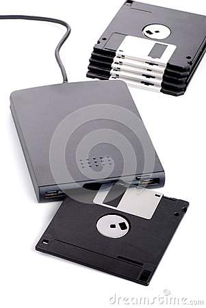 External floppy disk reader