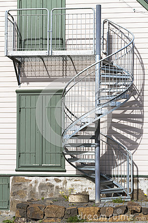 External Spiral Staircase Stock Photo Image 48821946