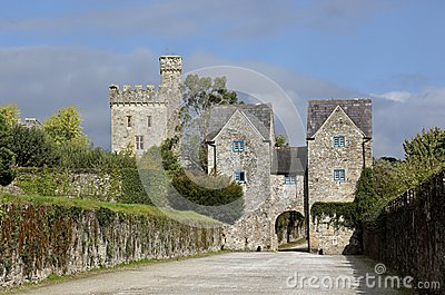 External view of Lismore Castle, Co Waterford, Munster Province, Ireland Editorial Photo