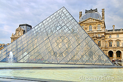 External view of the Louvre Museum (Musee du Louvre) Editorial Stock Photo