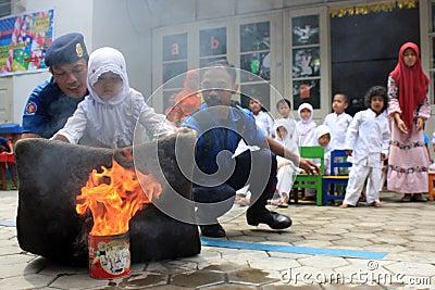 Extinguish fire Editorial Image