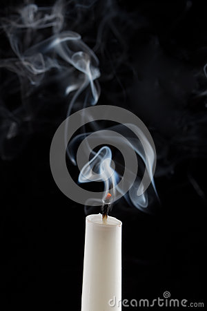 Free Extinguished Candle With Smoke Royalty Free Stock Photo - 62238735