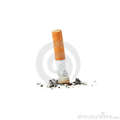 Free Extinguished Cigarette. Royalty Free Stock Image - 20547936