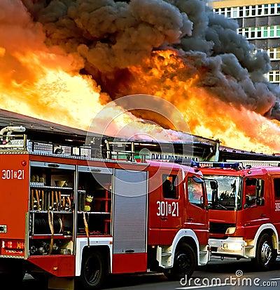 Extinguishing big fire