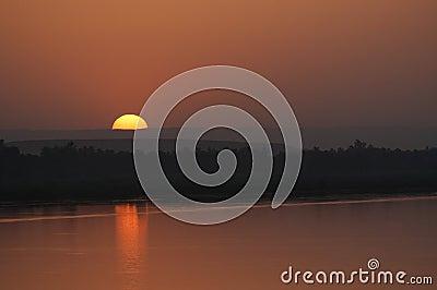 Extrémité de coucher du soleil