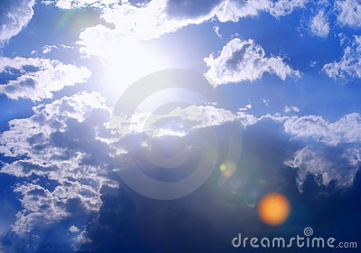 Extra-Bright Sun and Cloudscape