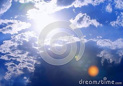 Extra-Bright Sun and Cloudscape