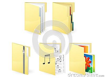 Extra-large icon of folders