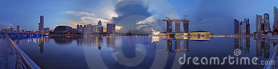 Extra large Paranoma pic of Singapore morning Editorial Photography
