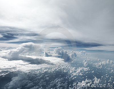 Extra Large sized Clouds taken from air plane