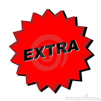 extra sign royalty free stock photo image 5577765