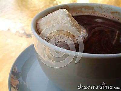 Extra varm marshmallow för choklad