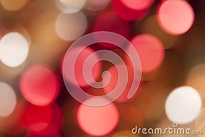Extracto hermoso de las luces del día de fiesta