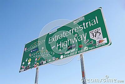 Extraterrestrial highway Editorial Stock Image