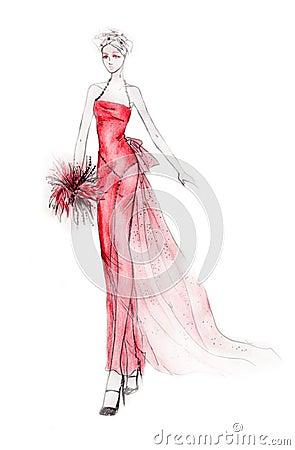Extravagant Bride Illustration