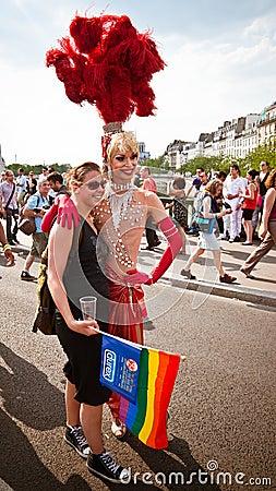 Extravagant costume Gay Pride Paris 2010 Editorial Photo