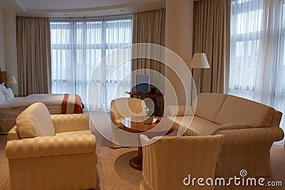 Extravagant hotel room