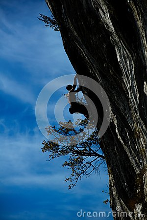Free Extreme Autumn,rock Climbing Royalty Free Stock Image - 104056086