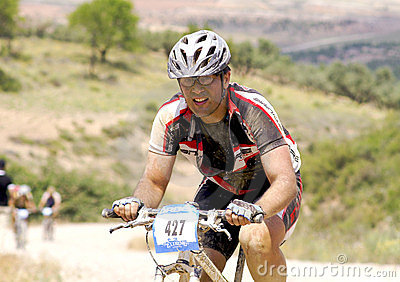 Extreme-Bardenas bike ride Editorial Stock Photo