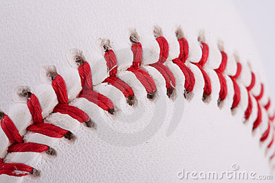 Extreme closeup of baseball