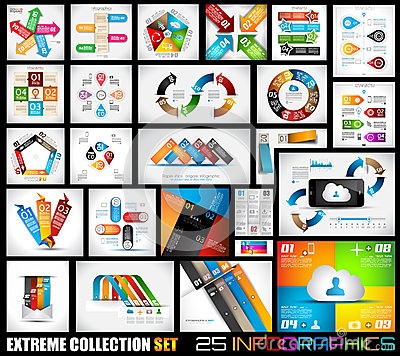 Free Extreme Collection Of 25 Quality Infographics Stock Image - 36012661