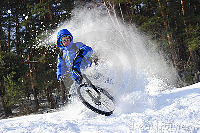 mountainbike snow winter extreme - photo #4