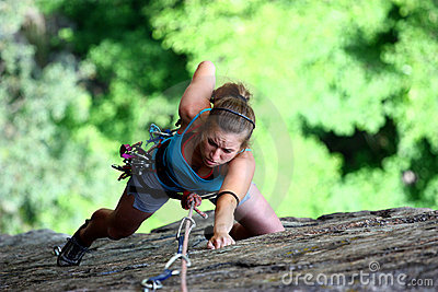 Extreme female climber