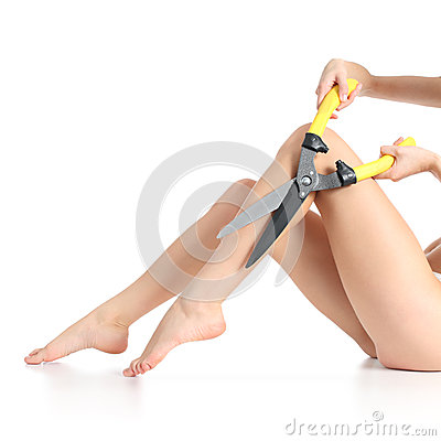 Free Extreme Female Legs Waxing Stock Photography - 35213782