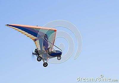 Extreme flight on deltaplane