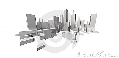 Extreme focal cityscape - skyline