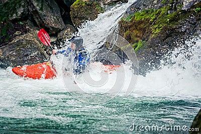 Extreme kayaking Editorial Stock Image