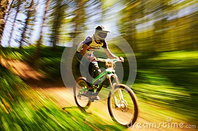 Extreme mountain bike competition Editorial Stock Image