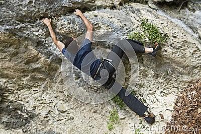 Extreme rock climber