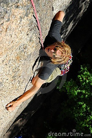 Free Extreme Rock Climber Royalty Free Stock Photo - 4775775