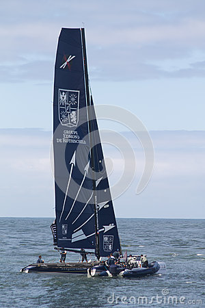Extreme sailing series Editorial Stock Image