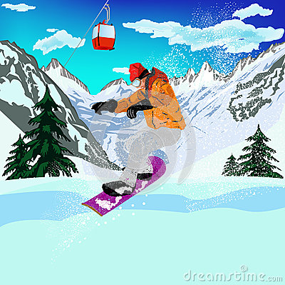 Extreme Skiing.Winter Sport