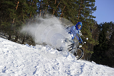mountainbike snow winter extreme-#9
