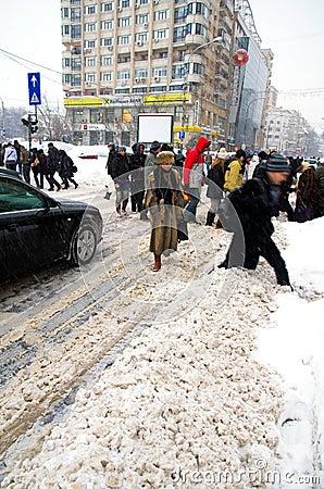 Extreme snowfall Editorial Image