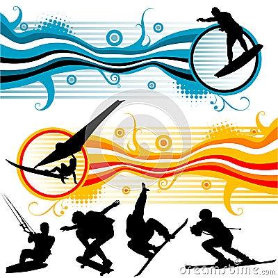 Extreme sport graphics