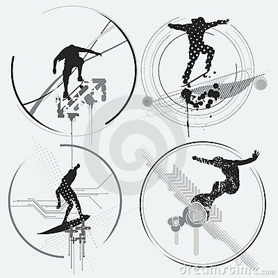 Extreme sports design elements