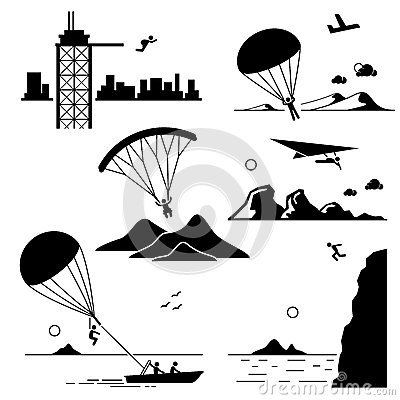 Free Extreme Sports Icons Cliparts Set 2 Stock Photo - 40590380